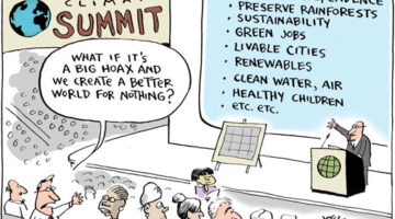Cartoon: Would Being More Eco-Responsible Matter If Climate Change Were a Hoax?