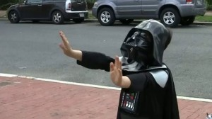 darth vadar kid using the force