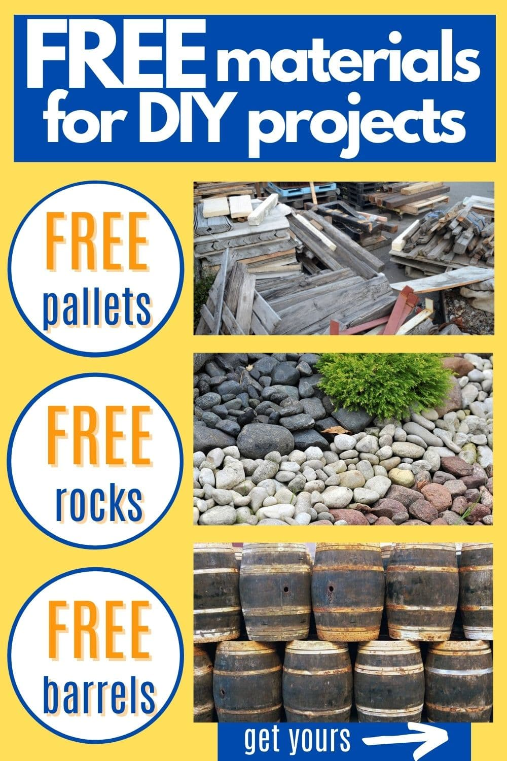 Free Materials For DIY Projects: Where To Get Free Pallets, Barrels, Landscaping Materials & More!