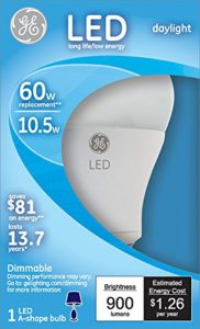 GE dimmable A19 led bulb