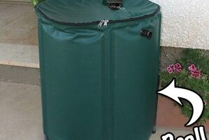 The Heaven + Earth Collapsible Rain Barrel Is A Great Deal!