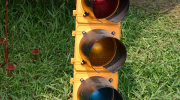 Awesome Recycling Project: Buy an Old Traffic Light and Turn It Into Game Room Décor