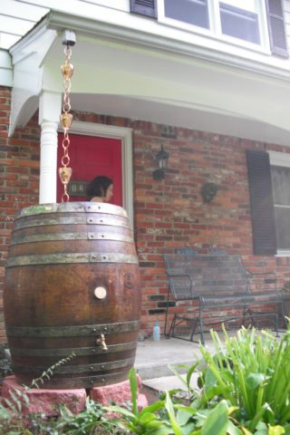 wooden-rain-barrel-and-rain-chain