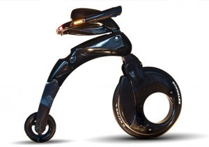 Foldable all-electric Yike Bike