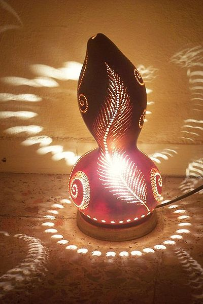 Gourd Lamp how to turn a gourd into a creative party lamp | the green living