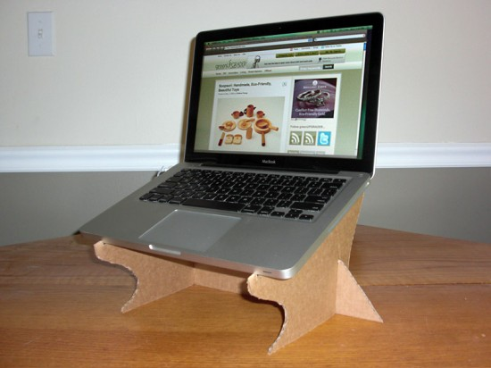 How to make a cardboard laptop stand youtube.