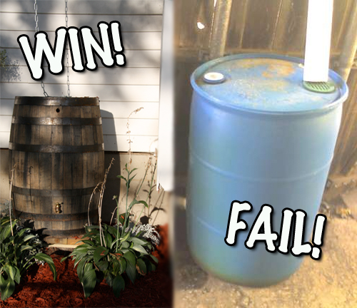 3 Examples Of Cheap Rain Barrels Wooden Rain Barrels